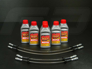 Stainless Steel Braided Brake Line Kit <b><u>Street Legal</u></b> Stainless Steel Braided Brake Line Kit for Maserati 4200, GranSport, Coupe and Spdyer Models.