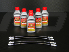 Stainless Steel Braided Brake Line Kit <b><u>Street Legal</u></b> Stainless Steel Braided Brake Line Kit for Ferrari 575 Models.